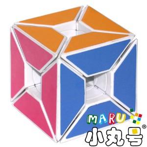 異形方塊 - 空心邊方塊 - 白色
