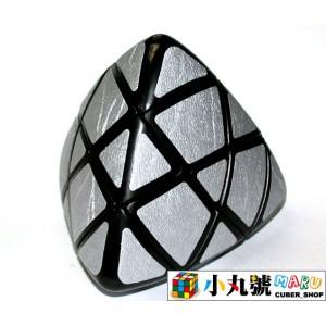 異形方塊 - 魔粽方塊 - 單色銀粽 pillowed pyramorphix silver