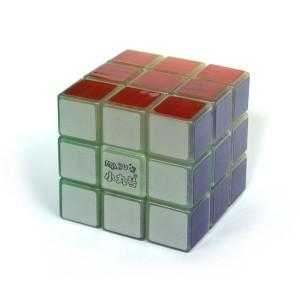 小丸號 - 紳藍三階 - 3x3x3 - 紳藍軸心 - 綠夜光