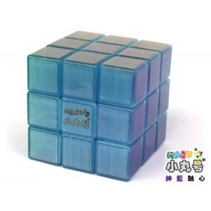 小丸號 - 紳藍三階 - 3x3x3 - 紳藍軸心 - 透明夜光藍