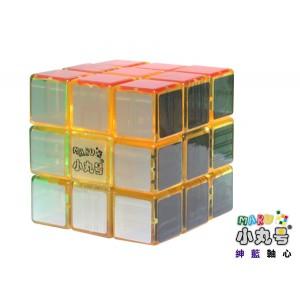 小丸號 - 紳藍三階 - 3x3x3 - 紳藍軸心 - 透明黃