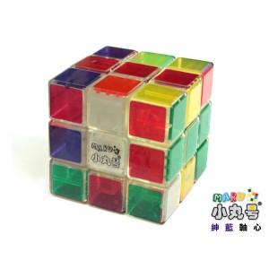 小丸號 - 紳藍三階 - 3x3x3 - 紳藍軸心 - 全透明