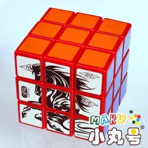 小丸號 - 3x3x3 - 生肖紀念款 - 馬年方塊 - 白面