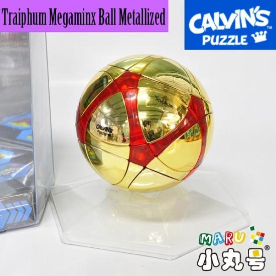 Calvin's - Traiphum Megaminx Ball Metallized Gold Embedded Clear Red☆限量金球☆寶石透紅