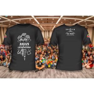 魔術方塊T恤 - 2018亞錦賽紀念衫 - 圓領