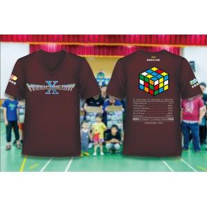 魔術方塊T恤 - 第十屆紀念服 - V領
