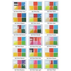 Cubesticker貼 - 3x3 - 14mm全系列 (適用小傲龍 小展翅 玲瓏三階)