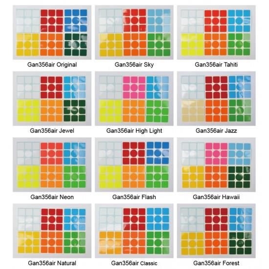 Cubesticker貼 - 3x3 - Gan356,Gan356air全系列