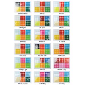 Cubesticker貼 - 3x3 - Fit全系列 (適用傲龍 孤鴻 展翅 CX3 CX3S 鬥牛 勇士 霜刃 光穎)