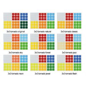Cubesticker貼 - 3x3 - 魔方格風 全系列 (適用雷霆 雷神 啟航)