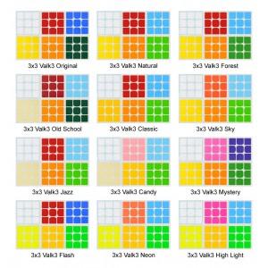 Cubesticker貼 - 3x3 - Valk 全系列 (適用Valk Power 雷霆v3 威龍GTS2 GTS二)