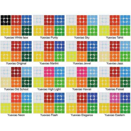 Cubesticker貼 - 3x3 - 月曉 全系列 (適用方圓  MGC II MF3RS3)