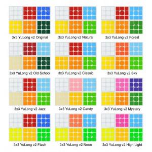 Cubesticker貼 - 3x3 -  YuLong v2 御龍三階 v2全系列