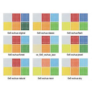 Cubesticker貼 - 6x6 - Wuhua 無華 全系列 (適用無華2 影 傲世GTS)