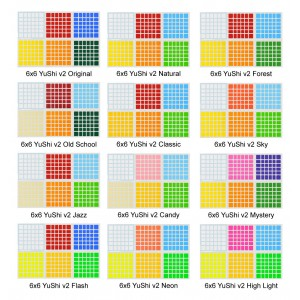 Cubesticker貼 - 6x6- YuShi v2 御世六階v2 全系列