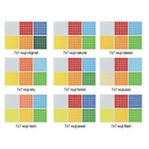 Cubesticker貼 - 7x7 - Wuji 無極 全系列 (適用黃龍七階)