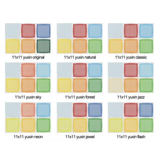 Cubesticker貼 - 11x11 - Yuxin 裕鑫十一階 全系列