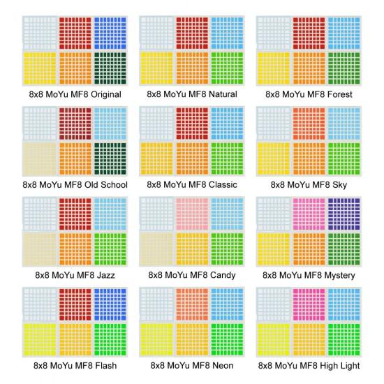 Cubesticker貼 - 8x8 - 魔方教室MF8 全系列