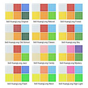 Cubesticker貼 - 9x9 - huanglong 黃龍九階 全系列