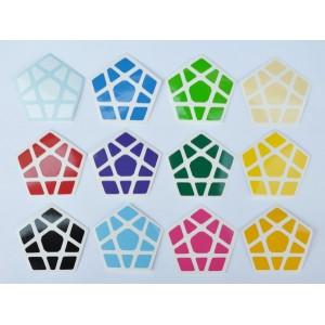Cubesticker貼 - Megaminx - Mars