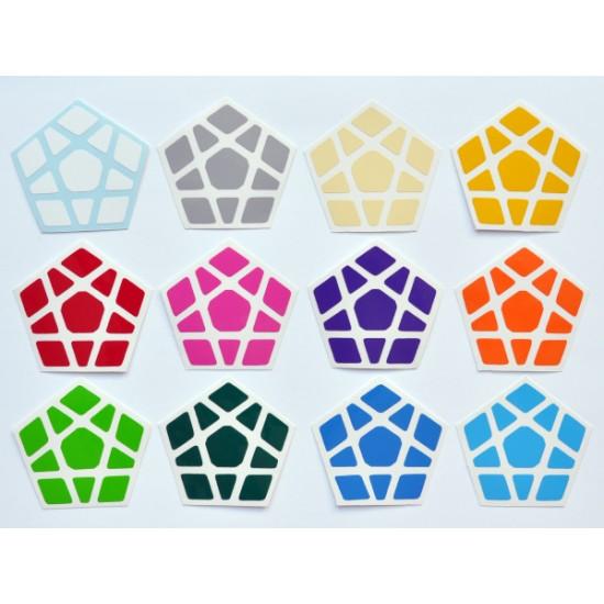 Cubesticker貼 - Megaminx - Mercury