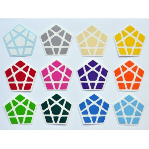 Cubesticker貼 - Megaminx - Mercury Light