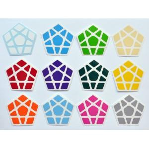 Cubesticker貼 - Megaminx - Moon Alpha