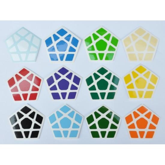 Cubesticker貼 - Megaminx - Pluto