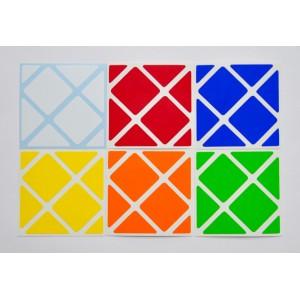 Cubesticker貼 - F-Skewb - Original 標準